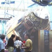 Another view of the Saturn 5's Command Module.
