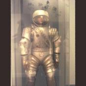 An armored space suit that was never used.