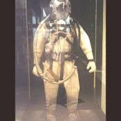 A more modern deep sea diving suit