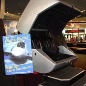 Visitors can climb aboard a MaxFlight® FS2000 simulator and pilot through a twisting 360-degree barrel roll or pull back on the joystick to complete an upside-down loop.