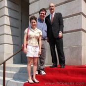Grand Opening Ceremony - F Street Entrance -  National Portrait Gallery Director, Marc Pachter's family
