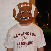This Skin Head is angry about the current 3-4 losing season.