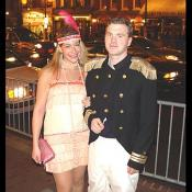 A sexy flapper girl with the Admiral of Georgetown