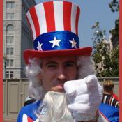 Grand Opening Ceremony - F Street Entrance - Uncle Sam wants you to visit the Reynolds Center