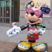 "'Celebrate Mickey: 75 InspEARations' Statue - Music Royalty - Elton is known for his eclectic style and piano prowess, both of which he depicts in ""Music Royalty,"" which styles Mickey with extravagant sunglasses and piano keys."