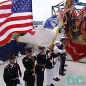 United States Color Guard for the Woodrow Wilson Bridge dedication.