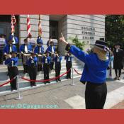 Grand Opening Ceremony - F Street Entrance - Conducting the fife and drum band