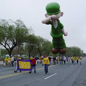 "2003 Cherry Blossom Festival: ""Beetle Bailey, reporting for duty!"" Private Bailey follows Ronald McDonald."