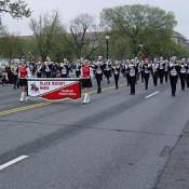 2003 Cherry Blossom Festival: the Black Knight Band represents the state of Pennsylvania in the National Cherry Blossom Festival Parade.