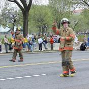2003 Cherry Blossom Festival: Local Fire departments help to celebrate the Cherry Blossom Festival.