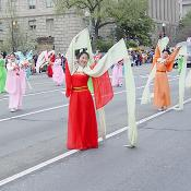 2003 Cherry Blossom Festival: East meets West during the Opening Ceremony.