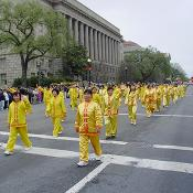 2003 Cherry Blossom Festival:  The parade takes place, rain or shine.