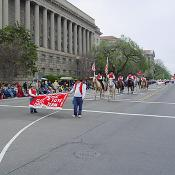2003 Cherry Blossom Festival: A local drill team takes part in the celebration.