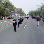 2003 Cherry Blossom Festival: Old Glory waving proudly.
