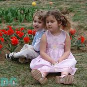 Two children reflect the joy Spring.