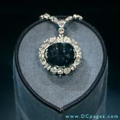 The Hope diamond is the world's largest deep blue diamond. AT 45.52 carats, it is classified as a type IIb diamond. The diamond's blue coloration is attributed to trace amounts of boron in the stone.