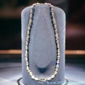 A back view of the Hope Diamond necklace.