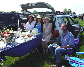 High dining family picnic