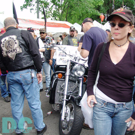 This image was taken at Thunder Alley, where a lot of special motor bikes were on display.