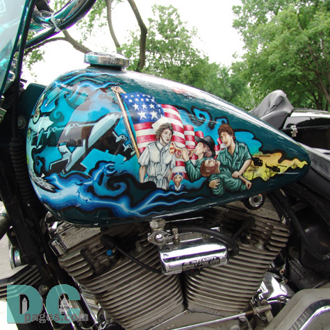 The airbrush art on this bike was done very well