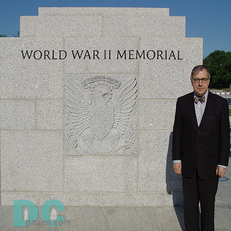"Friedrich St. Florian, World War II Memorial Design Architect. ""What inspired me was what the incredible generation of Americans did in the middle of the last century. Americans took up arms on a global scale to defend the principles and ideals of our Nation. I would like the younger people to feel walking through this Memorial that if ever a moment in history reoccurs they will be compelled to fight for our principles."""