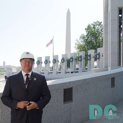 "Jim Walsh was the General Contractor for the World War II Memorial. ""People should come out of this Memorial saying thanks to all those that served."""