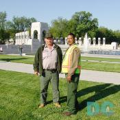 David and Jason are grounds keepers for the memorial.