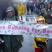 Motivated children who are running for Bonnie