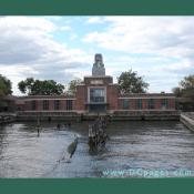 The Ellis Island ferry building was built in 1935. It was a place immigrants waited in until they were released on the the Ellis Island ferry boat to Manhatten.