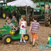Kids had fun meeting and playing with other kids at the Montgomery County Agriculture Fair.