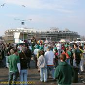 Crowd view of Shamrock Festival. RFK Stadium is in the background.