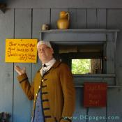 "The tavern keeper points to a sign. ""Beer is proof that God loves us and Wants us to be Happy."" - Ben Franklin."