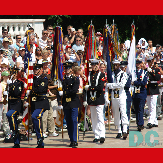 Presentation of Colors marching to the Tomb of the Unknowns.