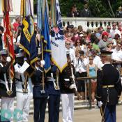 Color Guard faces the tomb of Unknowns.