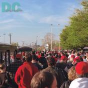 Washington Nationals' Inaugural Home Opener - You could feel the excitement in the air as fans walked up to the gates of the stadium. Music, whistles and cheers were all around you.