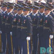 The U.S. Army rank and file march down Constitution Avenue.