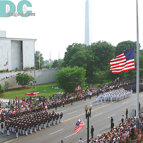 The event took place in downtown Washington right near the Washington Monument.