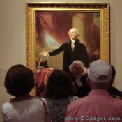 "First Floor - America's Presidents - This George Washington actor discusses the The iconic ""Lansdowne"" portrait of George Washington by Gilbert Stuart,"