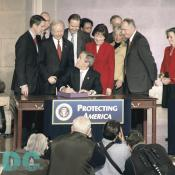 I'm now pleased and honored to sign into law the Intelligence Reform and Terrorism Prevention Act of 2004.  - President George W. Bush