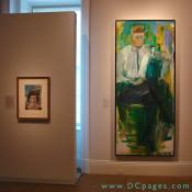 Second Floor - The Presidency and the Cold War - Portrait of first Lady Jacqueline Lee Bouvier Kennedy Onassis and President John Fitzgerald Kennedy